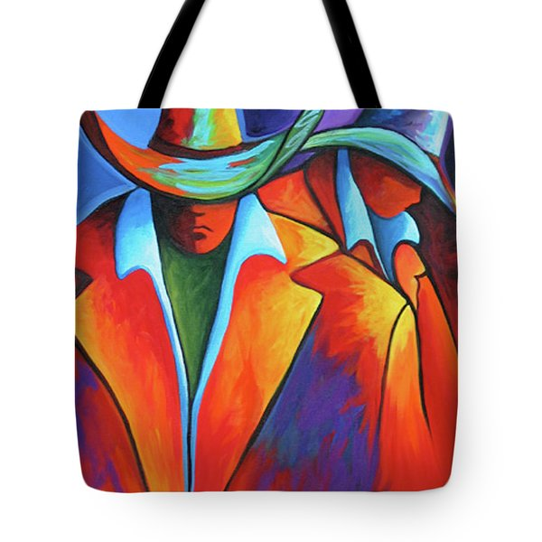 Two Cowboys Tote Bag by Lance Headlee