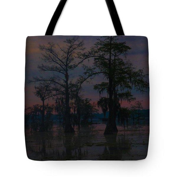 Two Cypress At Dawn Tote Bag