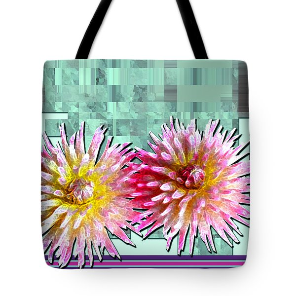 Two Dahlias Tote Bag by Shirley Heyn