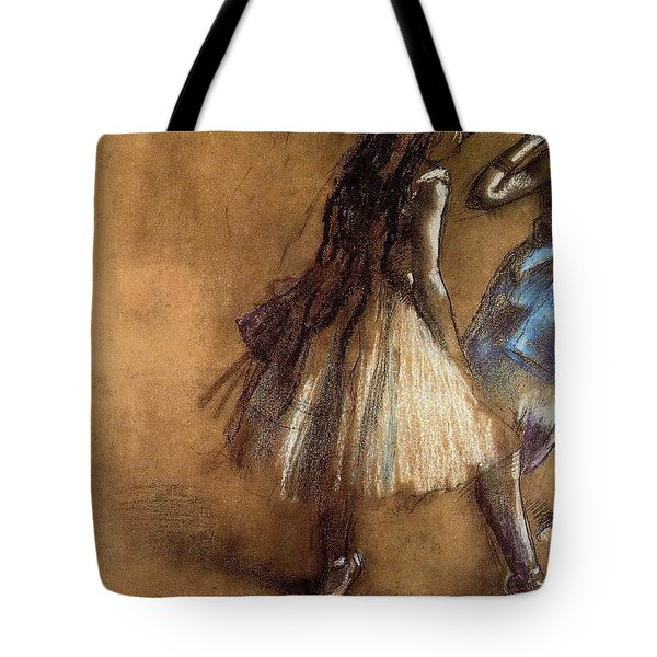Two Dancers Tote Bag by Degas