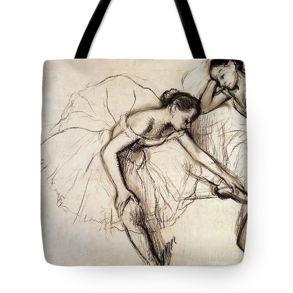 Two Dancers Resting Tote Bag by Edgar Degas