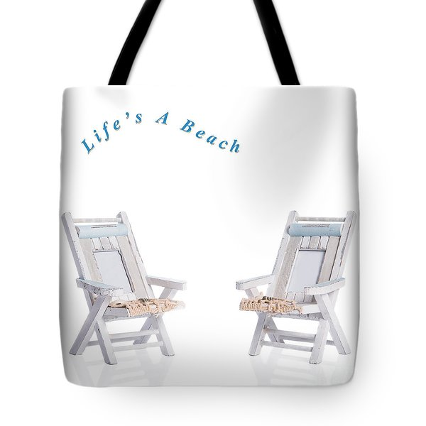 Two Deck Chairs Tote Bag