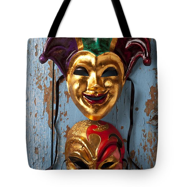 Two Decortive Masks Tote Bag by Garry Gay