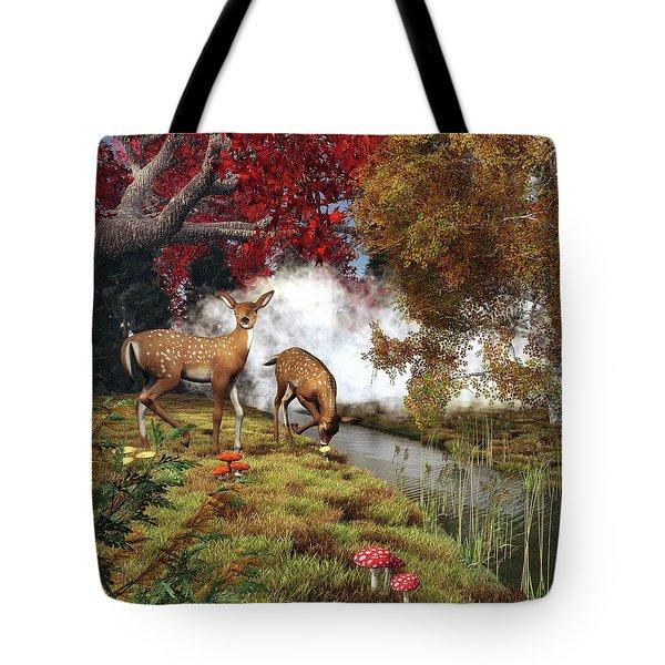 Two Deers Tote Bag