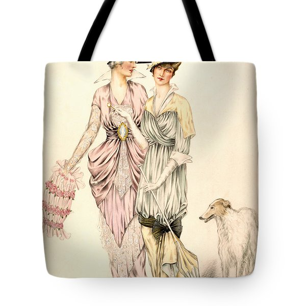 Two Dresses For The Goodwood Races Tote Bag