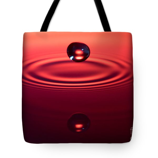 Two Drops And A Ripple Tote Bag