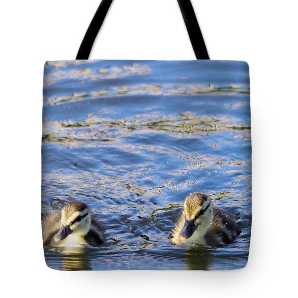 Two Ducklings Tote Bag