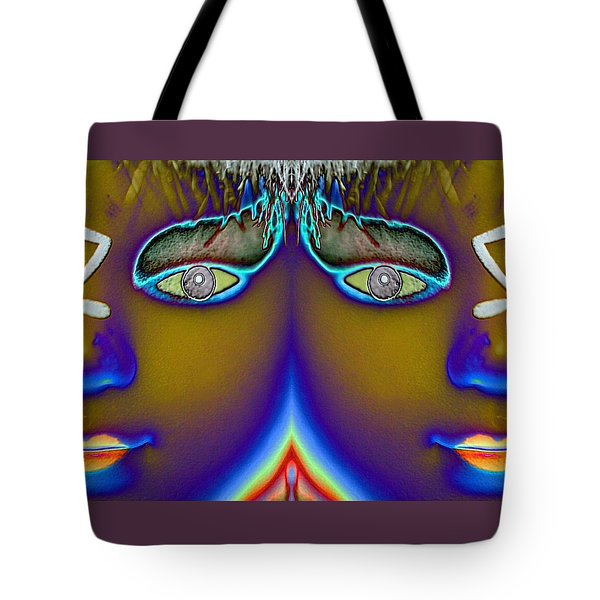 Tote Bag featuring the digital art Mirrored  by Holly Ethan