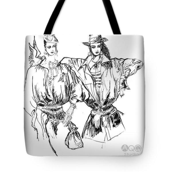 Two Fashion Girls Tote Bag