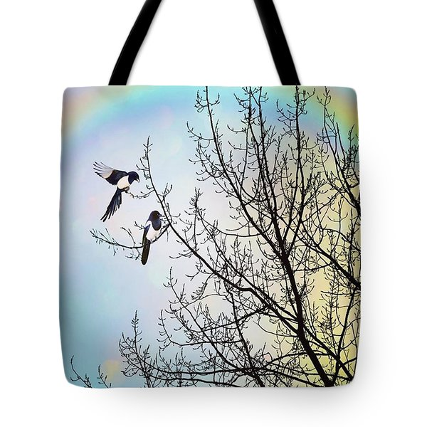 Two For Joy #nurseryrhyme Tote Bag by John Edwards
