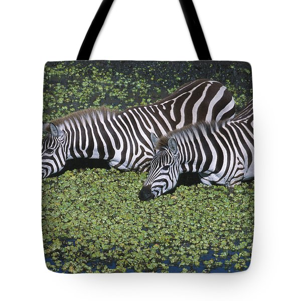 Two For Lunch Tote Bag by Sandra Bronstein