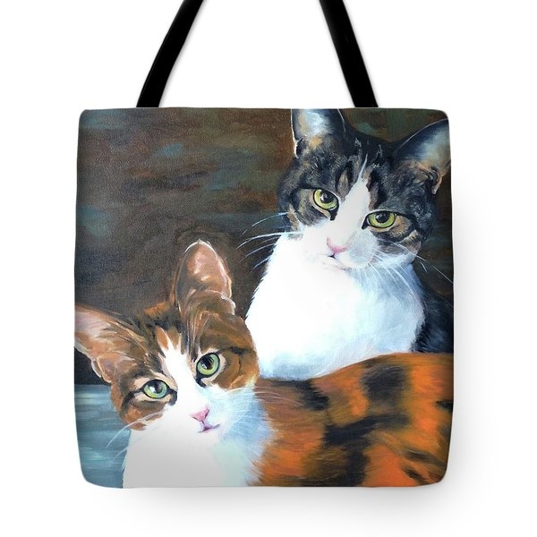 Two Friends Tote Bag by Diane Daigle