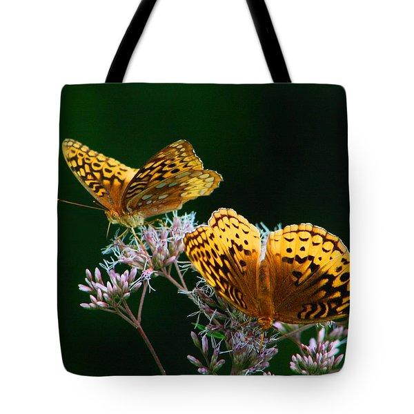 Two Fritillaries Tote Bag