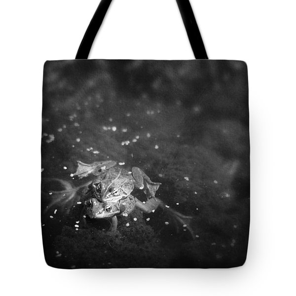 Two Frogs In A Pond Mating By Laying Tote Bag by Roberta Murray