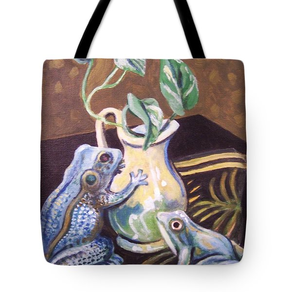 Two Frogs Tote Bag