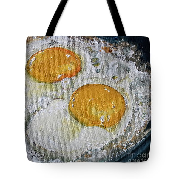 Two Frying Eggs Tote Bag