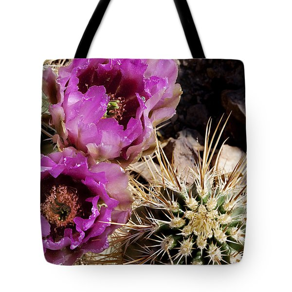 Tote Bag featuring the photograph Two Fucshia Blossoms  by Phyllis Denton