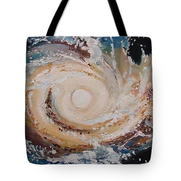 Two Galaxies Colliding Tote Bag