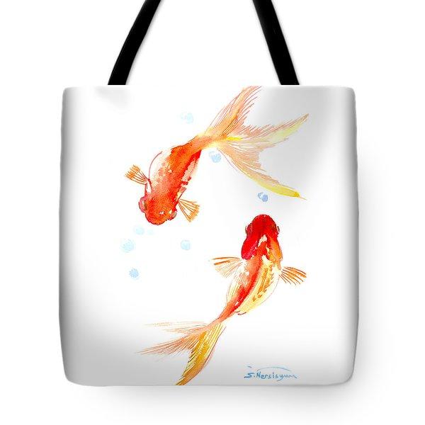 Two Goldfish Feng Shui Tote Bag