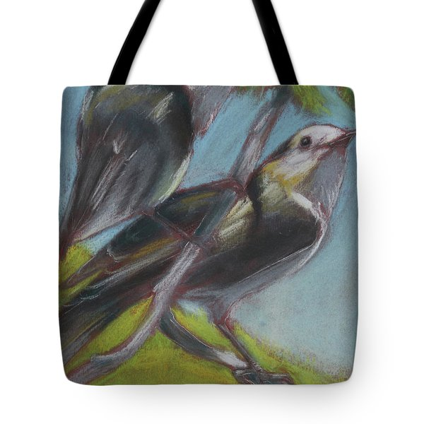 Two Gray Jays Tote Bag