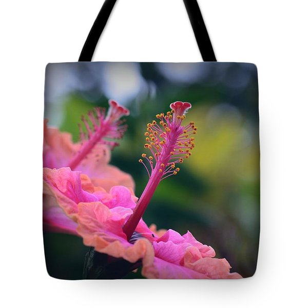 Two Hibiscus Tote Bag