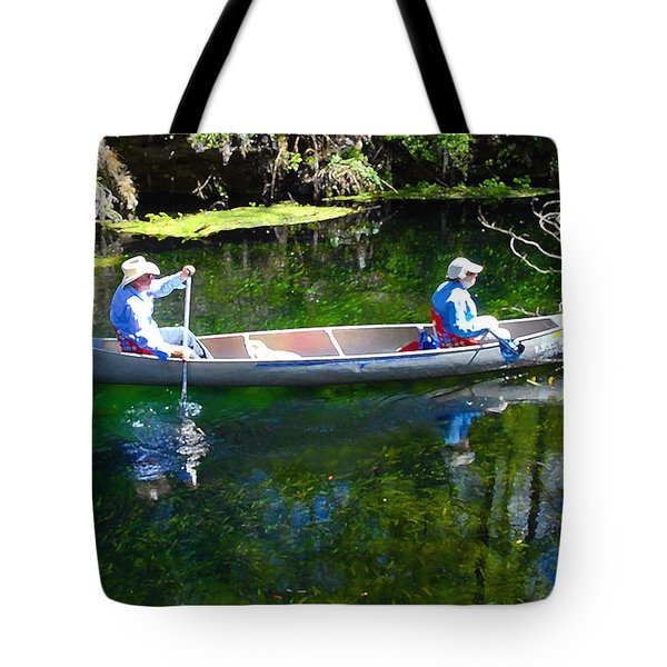 Two In A Canoe Tote Bag by David Lee Thompson