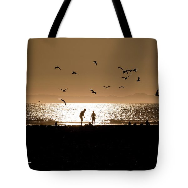 Tote Bag featuring the photograph Two In Sun by T A Davies