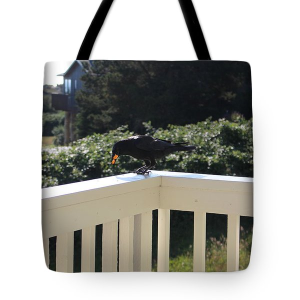 Tote Bag featuring the photograph Two In The Beak by Marie Neder