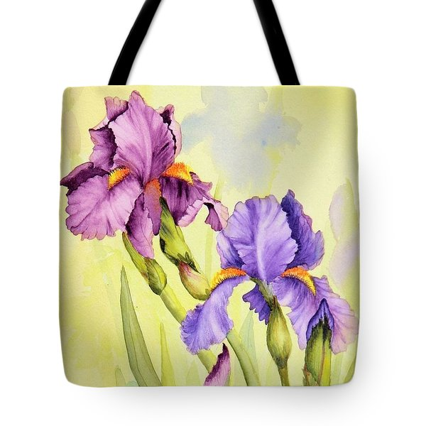 Two Irises  Tote Bag