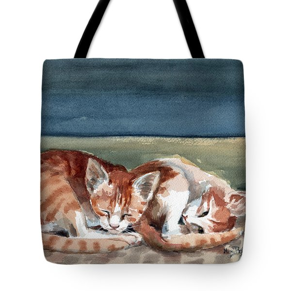 Two Kittens Tote Bag