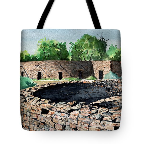 Two Kivas Aztec Ruins Tote Bag