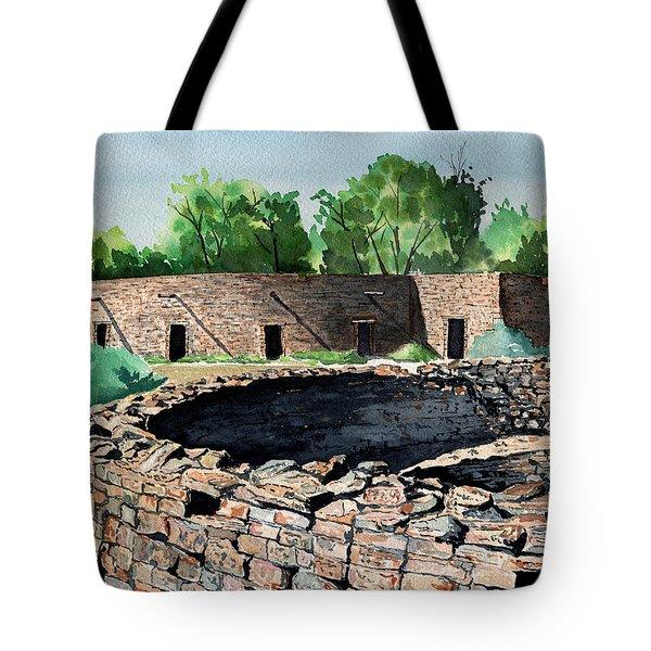 Two Kivas Aztec Ruins Tote Bag