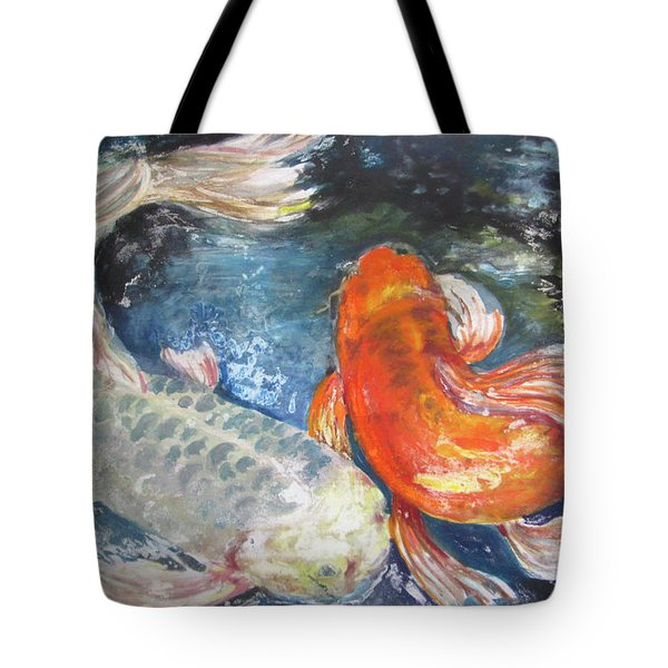 Two Koi Tote Bag by Susan Herbst