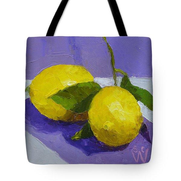 Two Lemons Tote Bag