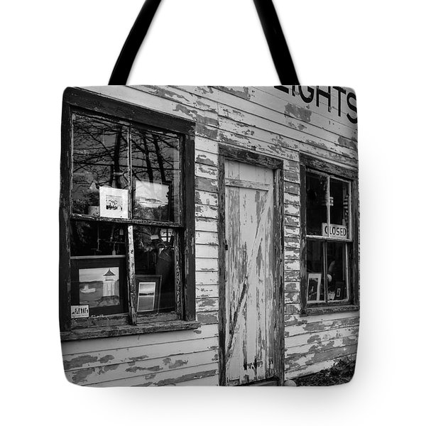 Two Lights Storefront Tote Bag