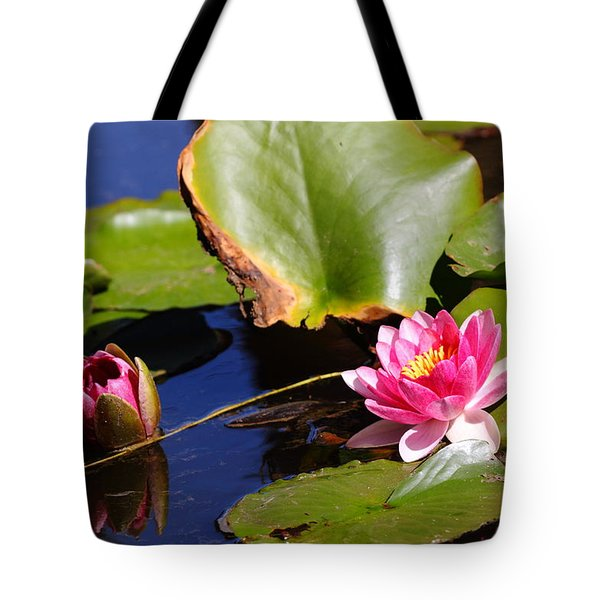 Tote Bag featuring the photograph Two Lilies by Richard Patmore