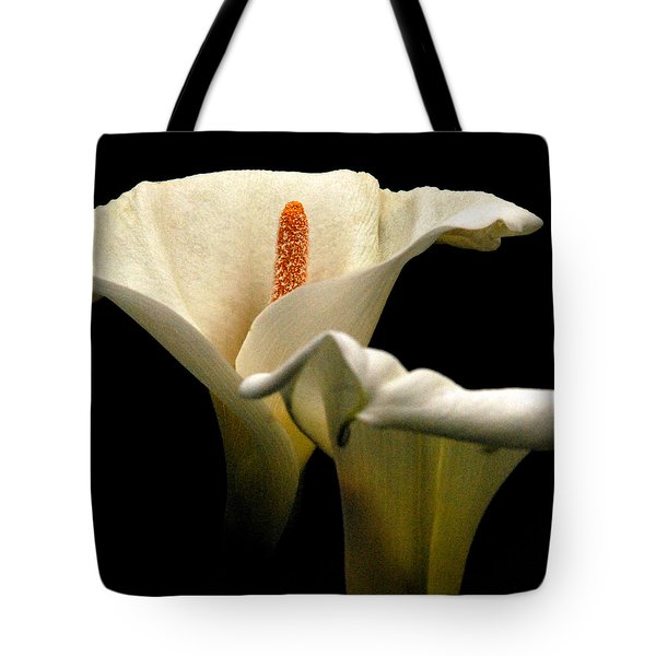 Two Lilies Square Tote Bag
