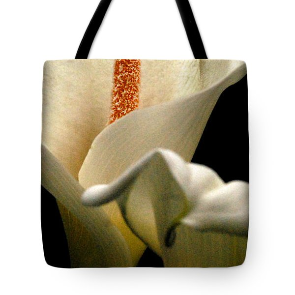 Two Lilies Tall Tote Bag