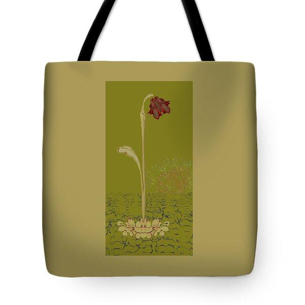 Two Lip Blob Flower Tote Bag