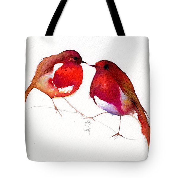 Two Little Birds Tote Bag by Nancy Moniz