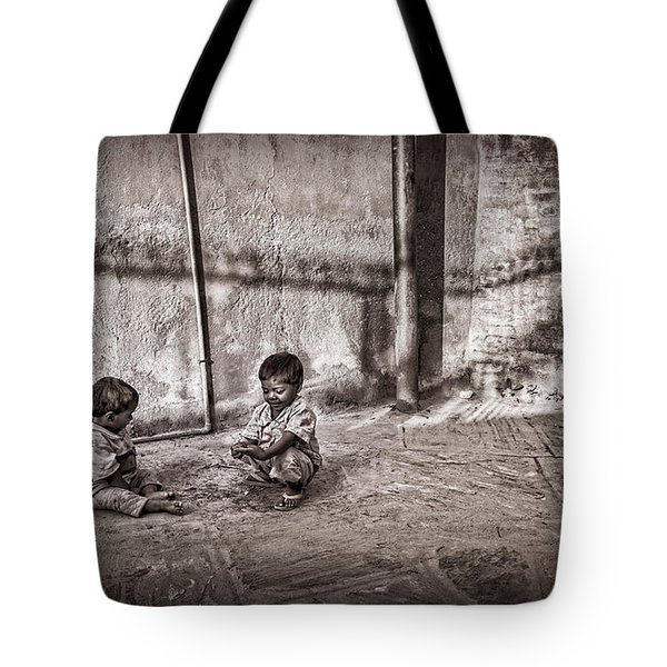 Two Little Boys Tote Bag