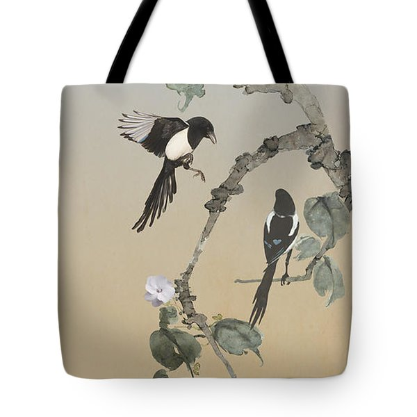 Two Magpies                       Tote Bag