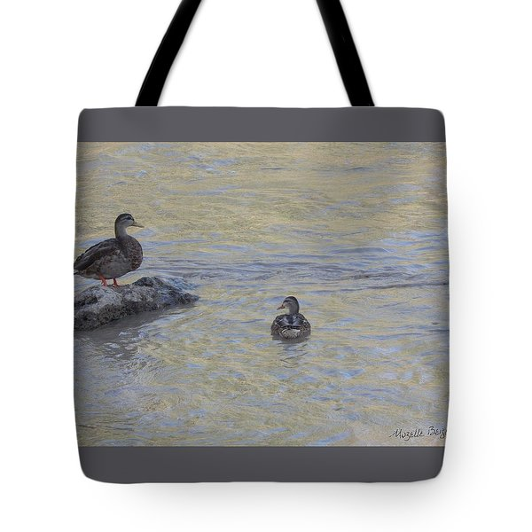 Two Mallard Ducks Tote Bag