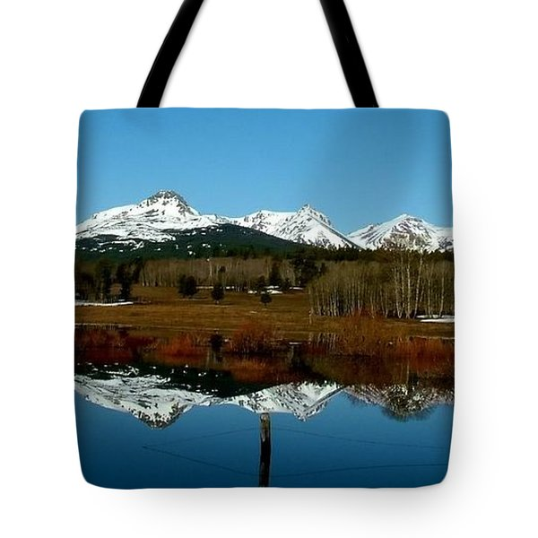 Two Med River Reflection Tote Bag