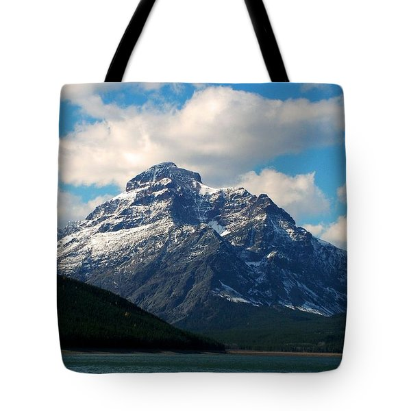 Two Medicine Lake And Rising Wolf Mountain Tote Bag