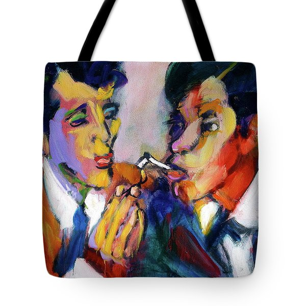 Two Men On A Match Tote Bag
