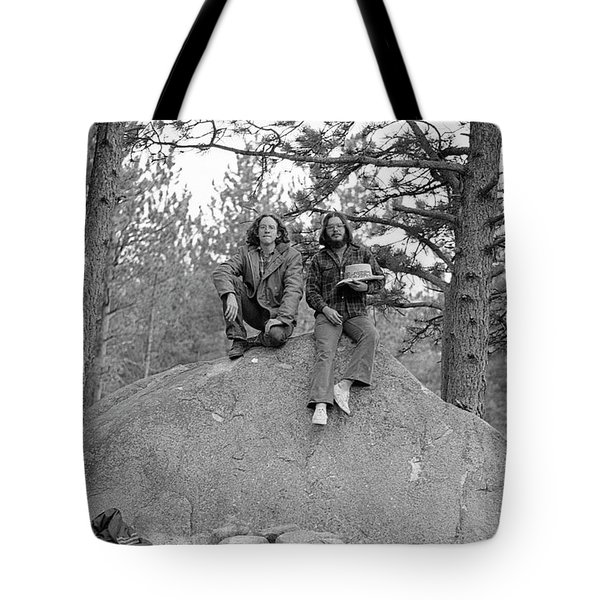 Two Men On A Boulder In The American West, 1972 Tote Bag
