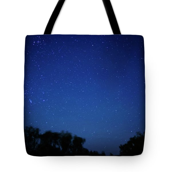 Two Meteors And A Fireball Tote Bag