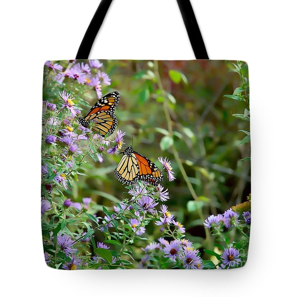 Two Monarchs Tote Bag