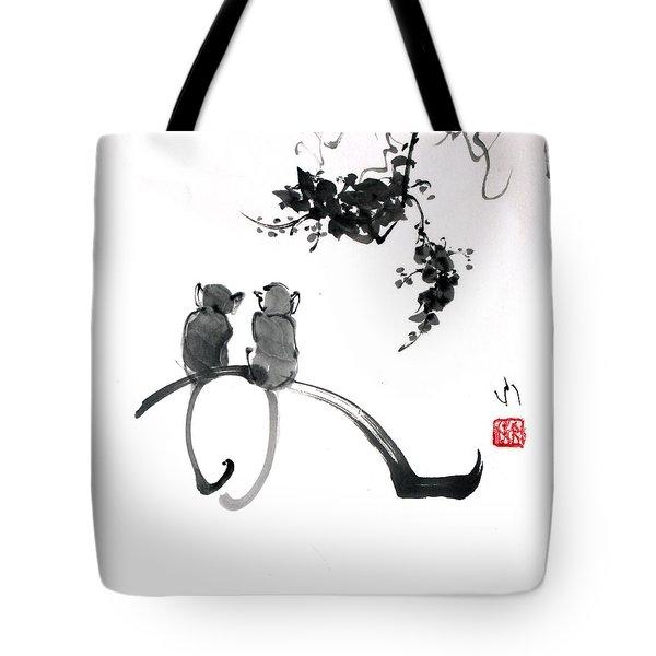 Two Monkeys Tote Bag